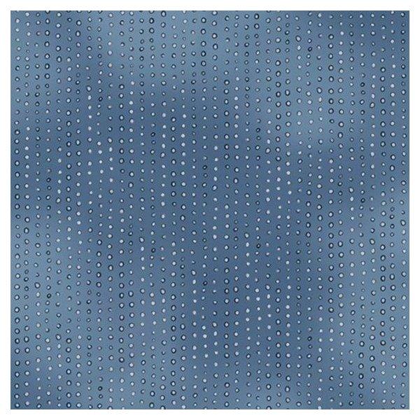 Bavlněná látka americká Santoro gorjuss doplňková modré tečky kapky světlé noční obloha