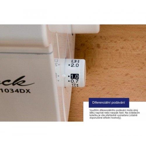 3 a 4-nitný overlock s diferenciálním podáváním a volným ramenem. jasné LED osvětlení, jednoduché...