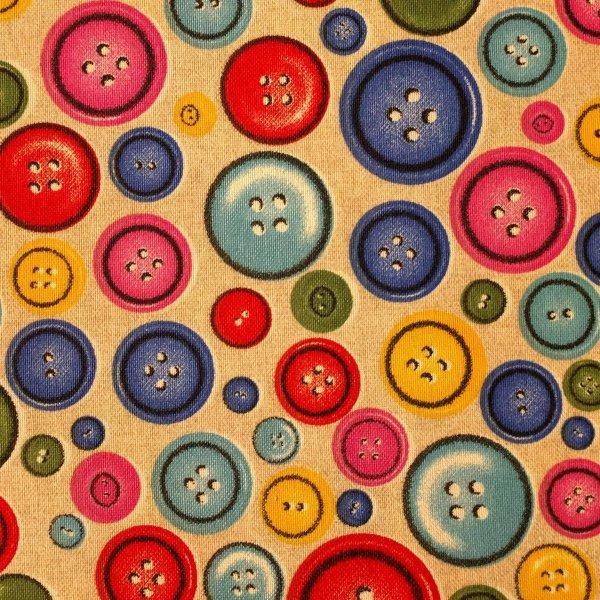 Dekorační látka dovoz knoflíky barevné režná na šití závěsů dekorací povleků