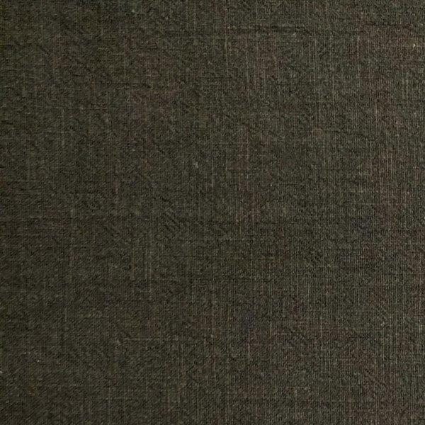 Lněná látka dovoz 100 ramie černá jednobarevná na oblečení kalhoty trička