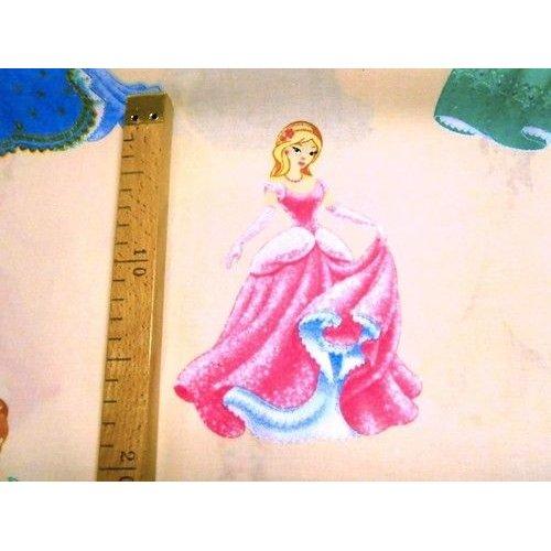 Látka dětská metráž barevné princezny