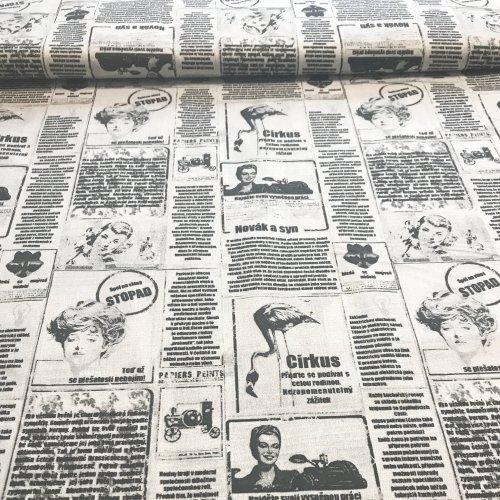Česká bavlněná látka, 100% bavlna, 135g/m2, šířka 140 cm