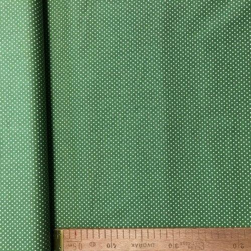 Česká bavlněná látka, 100% CO, 140g/m2, šířka 140 cm, puntík 2 mm