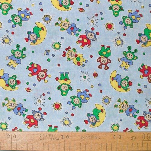 Dětský úplet metráž, dovoz EU, 100% bavlna,160g/m2, šířka 150 cm