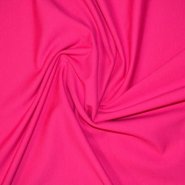 Bavlněný úplet metráž růžový světle červený fuchsiový elastická látka na trika