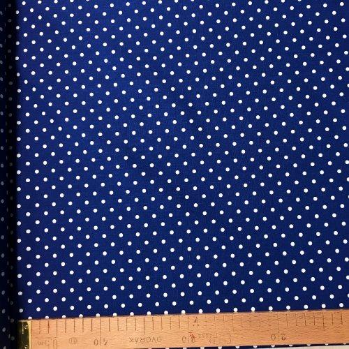 Česká látka metráž, plátno 100% bavlna, 140g/m2, šířka 150 cm, puntík 4 mm, atest