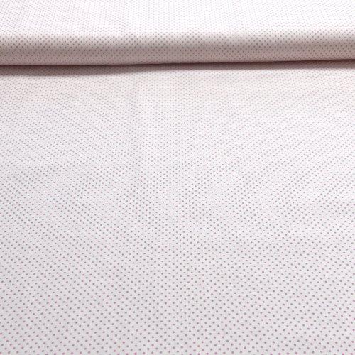 České bavlněná metráž, 100% CO plátno, 140g/m2, šířka 140 cm, puntík 2 mm