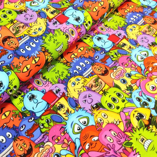 Dětský úplet tričkovina,látka ze zahraničí, 92% CO, 8% EA, 200g/m2, šířka 180 cm