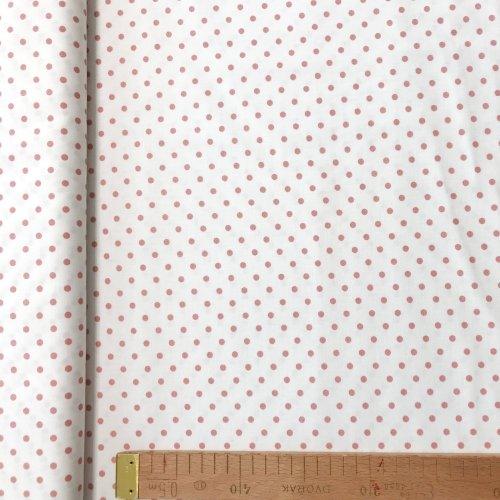Česká bavlna metráž,100% bavlna, 140g/m2, šířka 150 cm, atest, puntík 4 mm