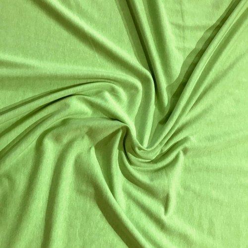 Elastický úplet metráž polyester neonově zelená jednobarevná na šití oblečení
