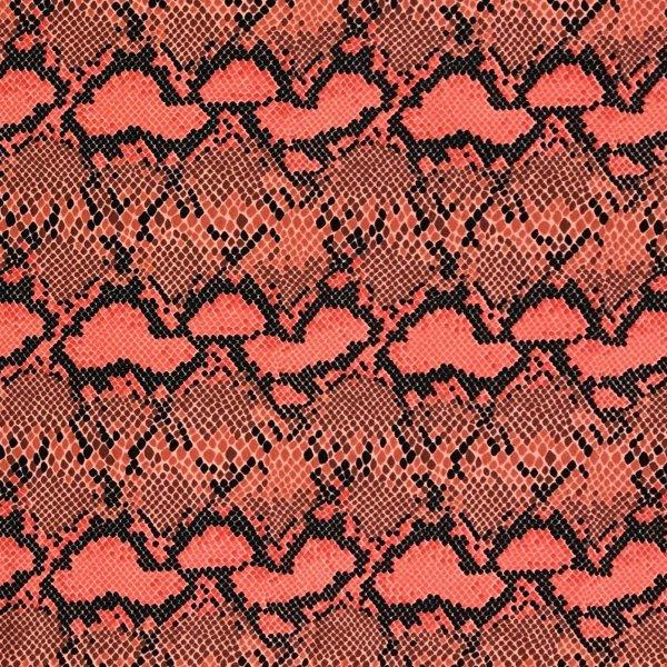 Látka metráž žerzej úplet hadí kůže červená oranžová růžová na kalhoty sukně
