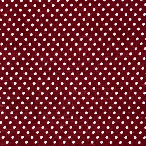Látka bavlna metráž, Česko, 100% CO, 140g/m2, šířka 140 cm, puntík 2 mm