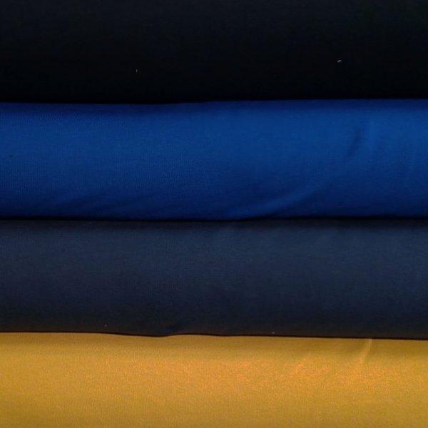 Teplákovina elastická metráž tmavě modrá barva na šití kalhot tepláků mikin