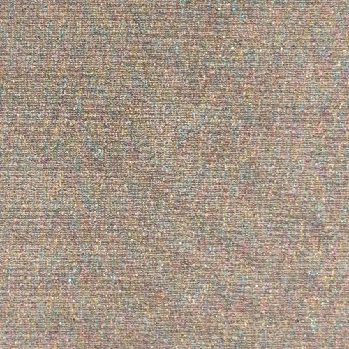 Elastická tenká teplákovina bavlna polyester šedá lurexová nit na šití kalhot oblečení