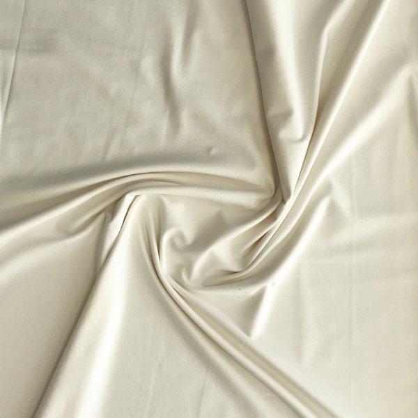 Bavlněný úplet,velmi příjemný a hebký,92% CO, 8% EL, šířka 150 cm, 240g/m2, atest