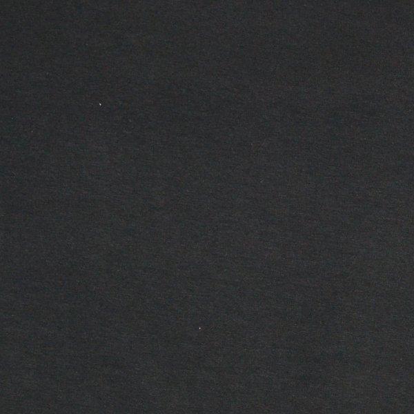 Látka metráž teplákovina počesaná dovozová elastan polyester čistě černá na šití
