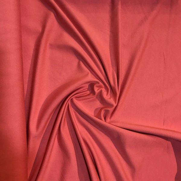 Teplákovina látka metráž nepočesaná lososová růžová na šití kalhot sukní