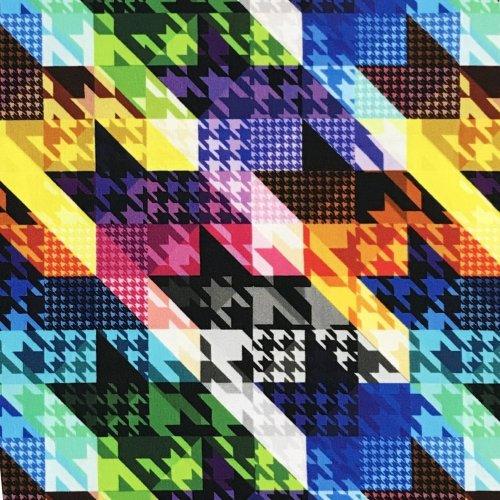 elastická látka teplákovina dámská na mikiny šaty barevné krystaly shapes