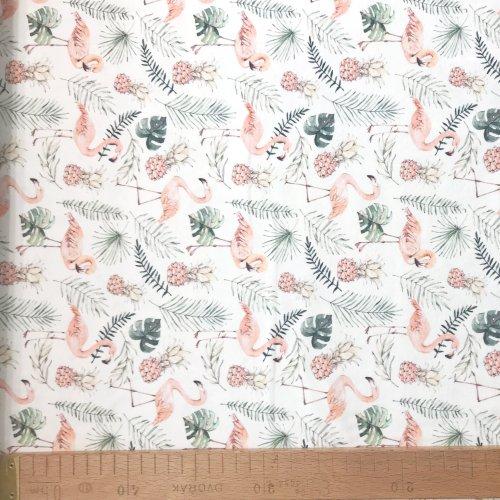 Látkajersey na šaty, tričkovina metráž ze zahraničí, 95% CO, 5% EA, 190g/m2, šířka 150 cm, atest